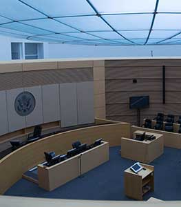 Image of a Sandra Day O'Connor District Court courtroom